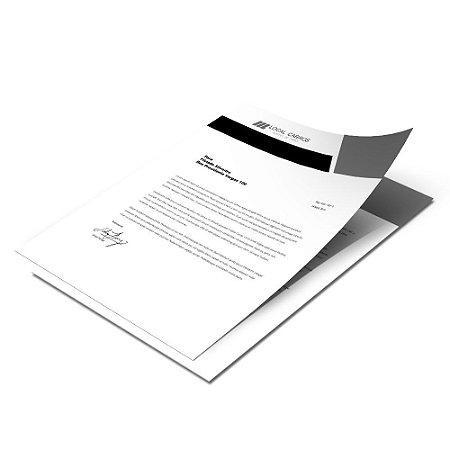 Papel Timbrado - 210x297mm - Sulfite 75g - 1 cor (1x0)
