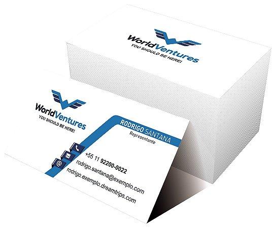 Cartão de Visita - WorldVentures | DreamTrips - Modelo 2