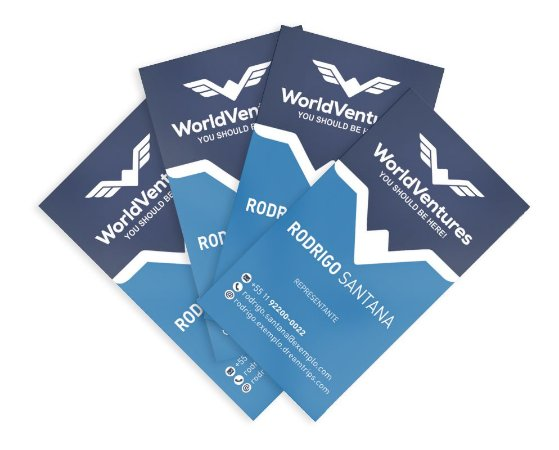 Cartão de Visita - WorldVentures | DreamTrips - Modelo 9 - 1.000 unidade