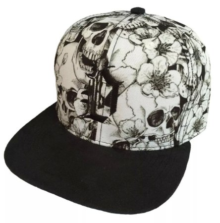 White Skull SnapBack