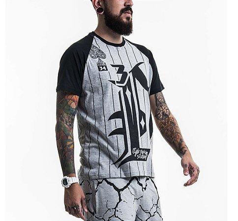 Camiseta Baseball Raglan Mescla