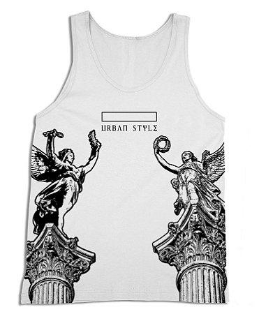Regata Estampa Estatuas Urban Style - Branca - 3D Clothing