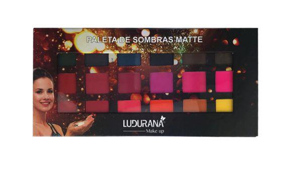 Paleta de Sombras 18 cores Matte - Ludurana
