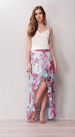 d9f4f96ad9 Saia longa toque de seda florida - Bbrasilstilus    loja de roupas ...