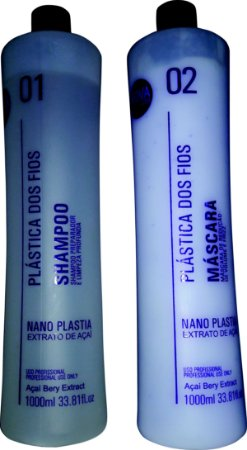 Kit Escova Progressiva Plastica Dos Fios Shampoo + Ativo