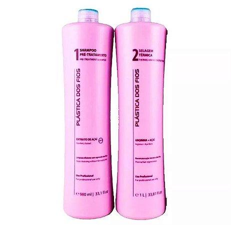 Escova Progressiva Plastica Dos Fios Shampoo + Ativo