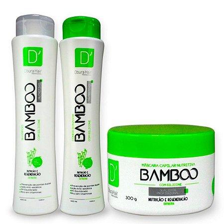 Kit Capilar bamboo Doura Hair ( Shampoo , Condicionador e Máscara)