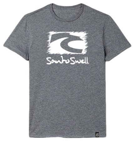 Camiseta Santo Swell Classic Estampada Manga Curta 4 Cores