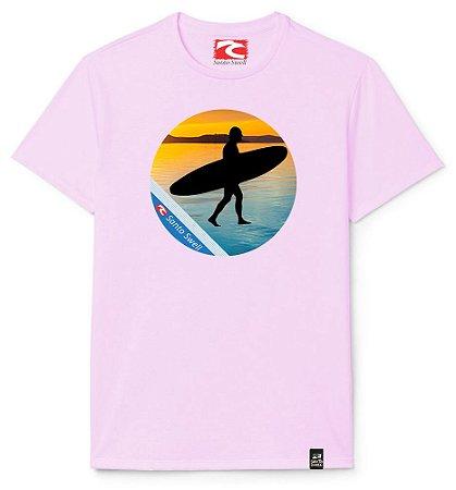 Camiseta Santo Swell Surfer Sunset Estampada Manga Curta 5 Cores
