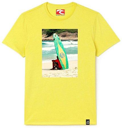 Camiseta Santo Swell Thinking surf Estampada Manga Curta 3 Cores