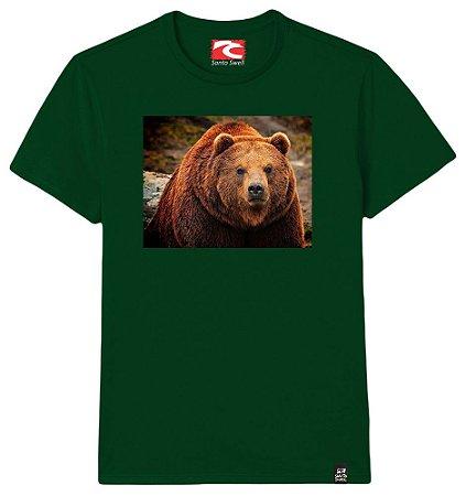 Camiseta Santo Swell Bear in the Forest Estampada Manga Curta 3 Cores