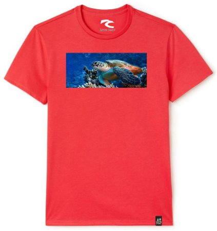Camiseta Santo Swell Sea turtle Estampada Manga Curta 3 Cores