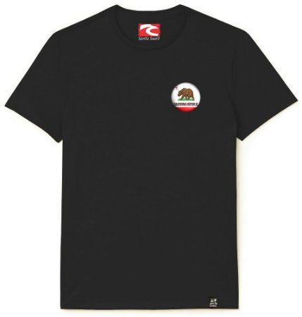 Camiseta Santo Swell Discreet Bear California Estampada Manga Curta 7 Cores