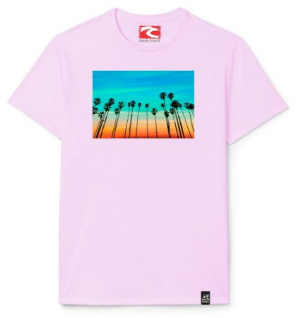 Camiseta Santo Swell Coconut Palms in California Estampada Manga Curta 5 Cores