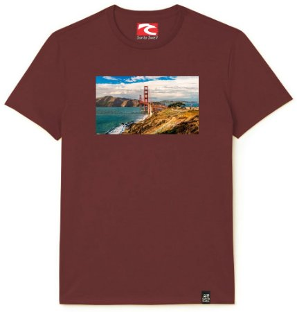 Camiseta Santo Swell Bridge Over Open Sea Estampada Manga Curta 5 Cores