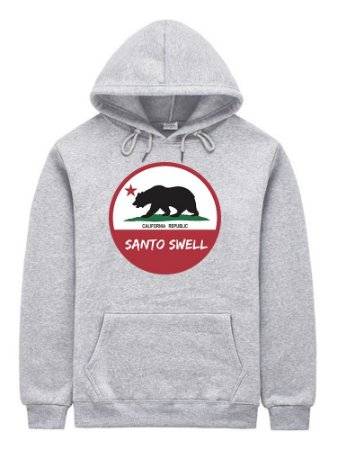 Moletom Masculino Santo Swell Republic Califórnia Canguru com Bolso e Touca 6 Cores