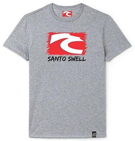Camiseta Masculino Santo Swell Classico Logo Estampada Manga Curta 5 Cores