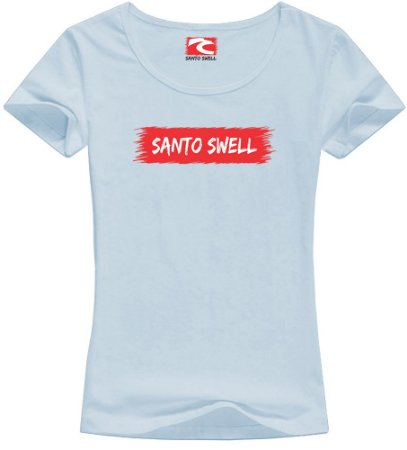 Camiseta Babylook Santo Swell Classic in Bit Manga Curta 4 Cores