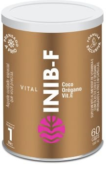 Vital Inib - Vitamina E Com Óleos De Coco E Orégano - 60 Cps de 1.000mg