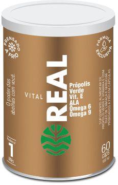 Vital Real Vitamina E c/Óleos de Linhaça e Gergelim 500mg