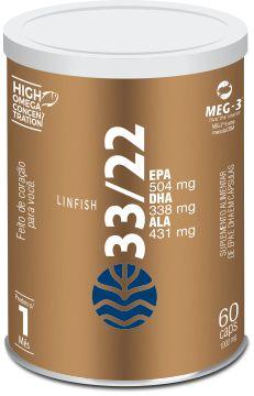 Vital LinFish 33/22 - Óleo de Linhaça e Óleo de Peixe em Cápsulas