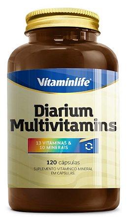 Diarium - Multivitamínico 120 Comprimidos - Vitaminlife - 13 VITAMINAS e 10 MINERAIS