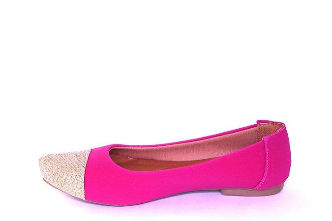 Sapatilha Pink Ponta Ouro