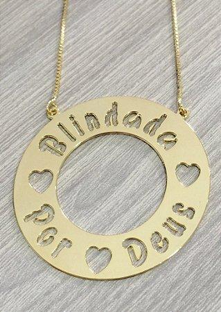 Mandala 3cm - Simples com letras Vazadas.