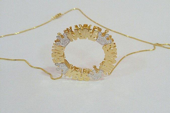 Mandala 3cm -personalizada com coroas.