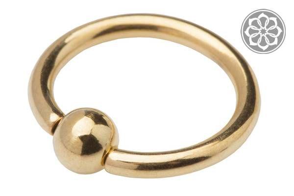 Piercing Captive Dourado em Aço
