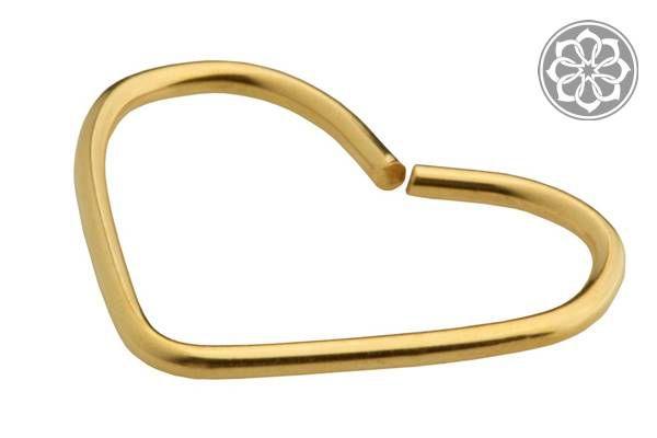 Piercing de Coração para Cartilagem Folheado a Ouro
