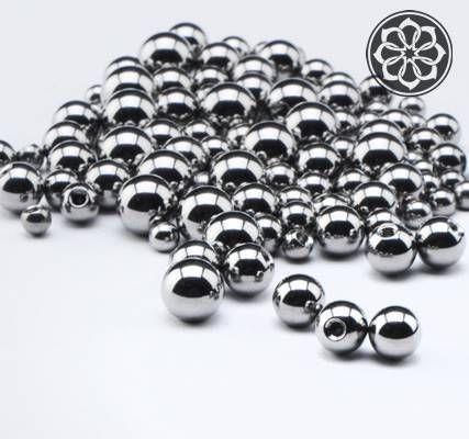 Bolinhas Grandes em Aço  - Prata