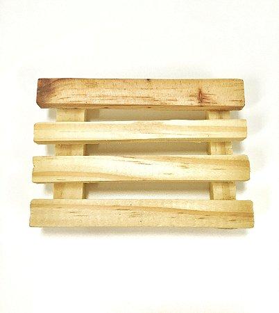 Saboneteira em madeira 10 x 7 cm