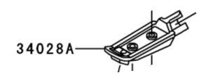 PEDALEIRA DIANTEIRA ESQUERDA NINJA 250R - 34028-1450