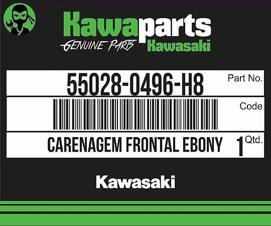 CARENAGEM FRONTAL EBONY NINJA 300 - 55028-0496-H8