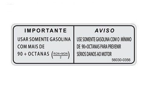 ETIQUETA GASOLINA - 56030-0356