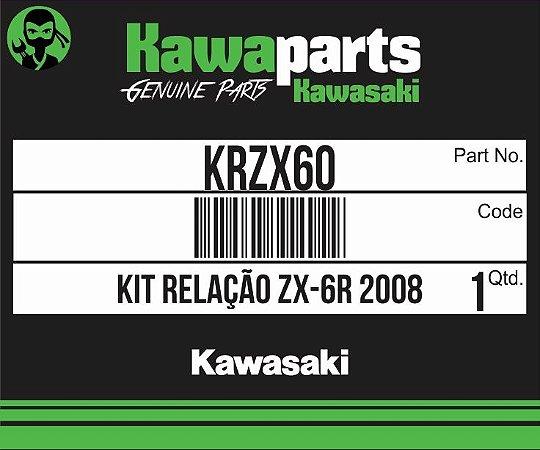 KIT RELAÇÃO ZX-6R 2008 ORIGINAL