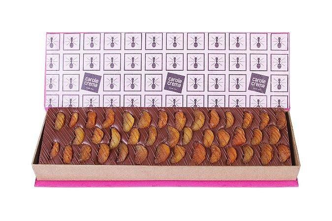 BARRA CHOCOLATE COM DAMASCO