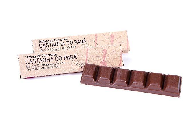 TABLETINHO DE CHOCOLATE COM CASTANHA DO PARA