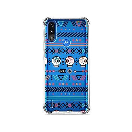 Capa (Transparente) para Moto E7 Power - Tribal
