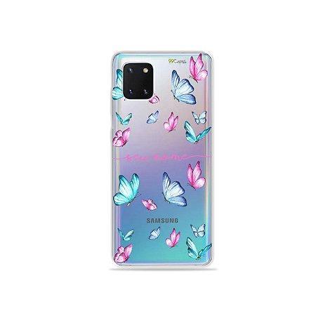 Capa Butterfly com nome para Samsung J