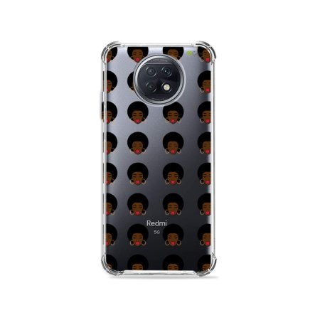 Capa (Transparente) para Xiaomi Redmi Note 9T - Black Girl