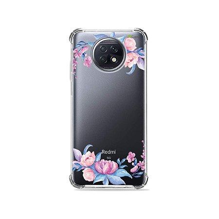 Capa (Transparente) para Xiaomi Redmi Note 9T - Bromélias