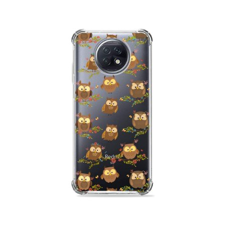 Capa (Transparente) para Xiaomi Redmi Note 9T - Corujinhas
