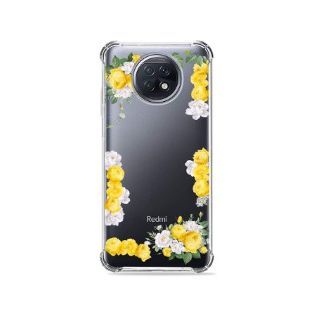 Capa (Transparente) para Xiaomi Redmi Note 9T - Yellow Roses