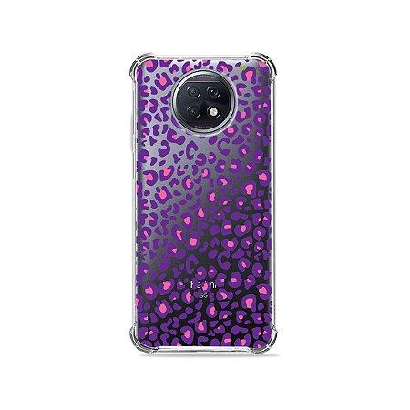 Capa (Transparente) para Xiaomi Redmi Note 9T - Animal Print Purple
