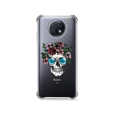 Capa (Transparente) para Xiaomi Redmi Note 9T - Caveira