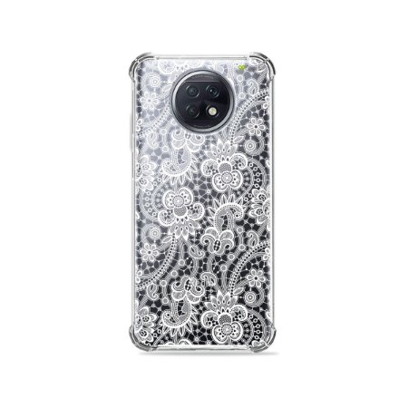 Capa (Transparente) para Xiaomi Redmi Note 9T - Rendada