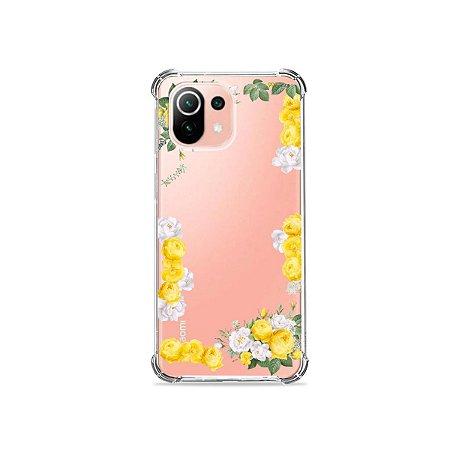 Capa (Transparente) para Xiaomi Mi 11 Lite - Yellow Roses