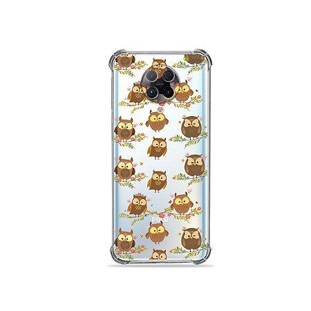 Capa (Transparente) para Xiaomi Poco F2 Pro - Corujinhas